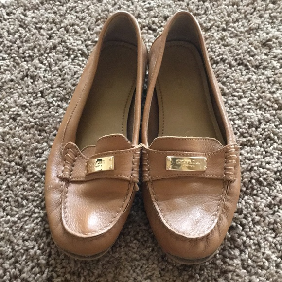 58fbfb49f31 Coach Shoes - Coach Fredrica Cognac Leather Loafers (7)